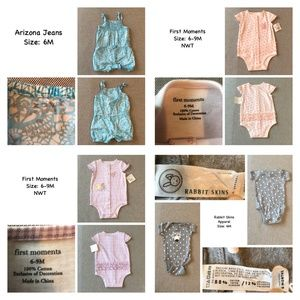 Assortment of infant girls clothing size 6M & 6-9M